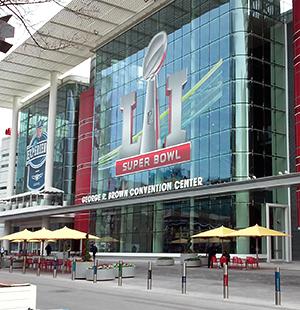 Walter P Moore venues hosting Super Bowl events