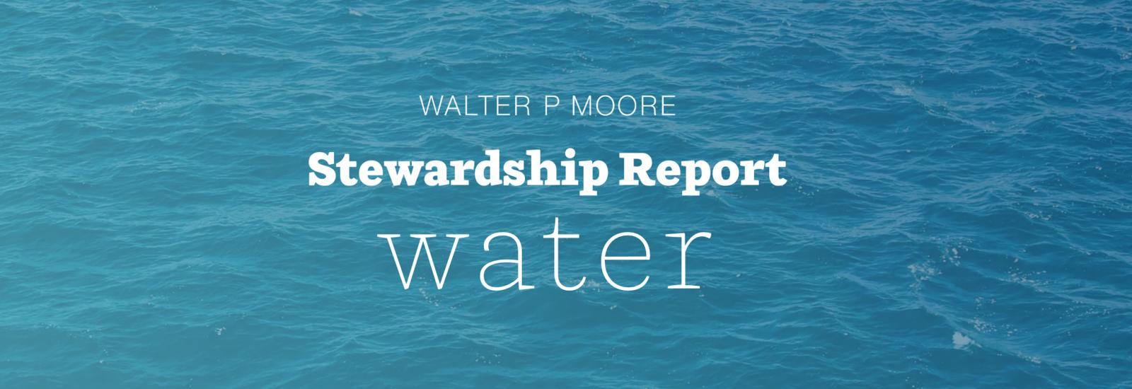 Stewardship Report - Water