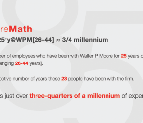 Walter P Moore 85th Fun Fact 4