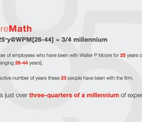Walter P Moore 85th Fun Fact 4