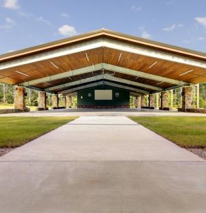Boy Scouts of America Camp Strake pavilion