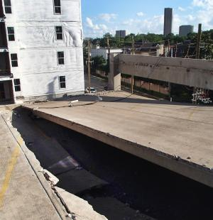 One Riverway Garage Collapse