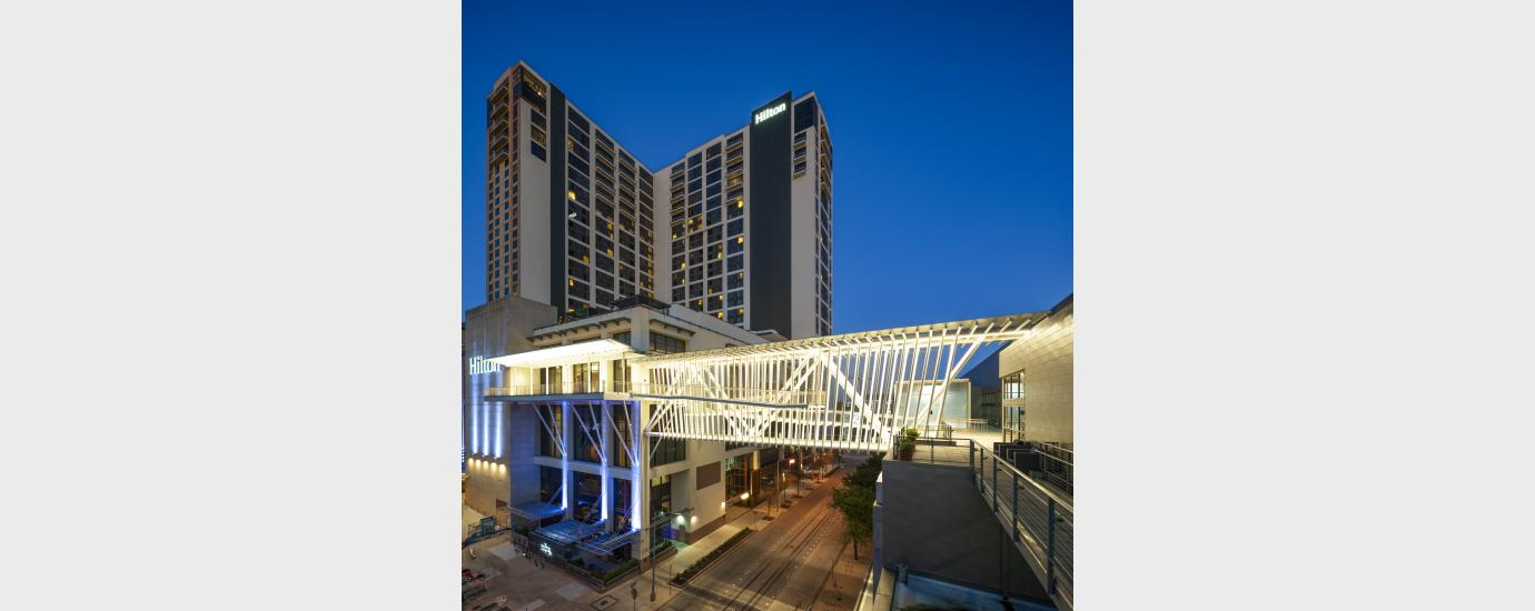 Austin Hilton CC Hotel Pedestrian Bridge