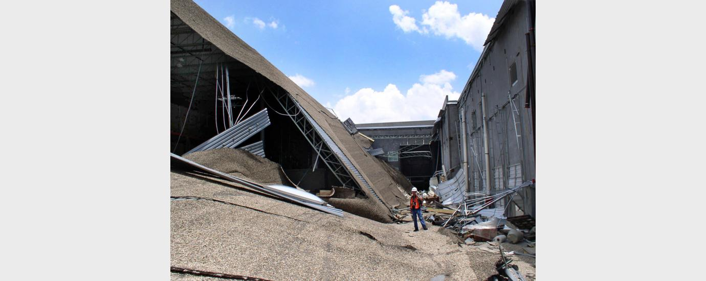 Warehouse Partial Roof Collapse