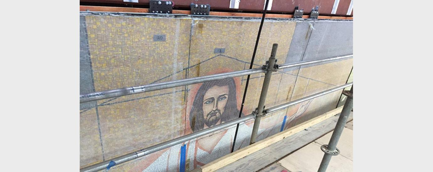 Houston Methodist Arms of Christ Mural Relocation | Walter P