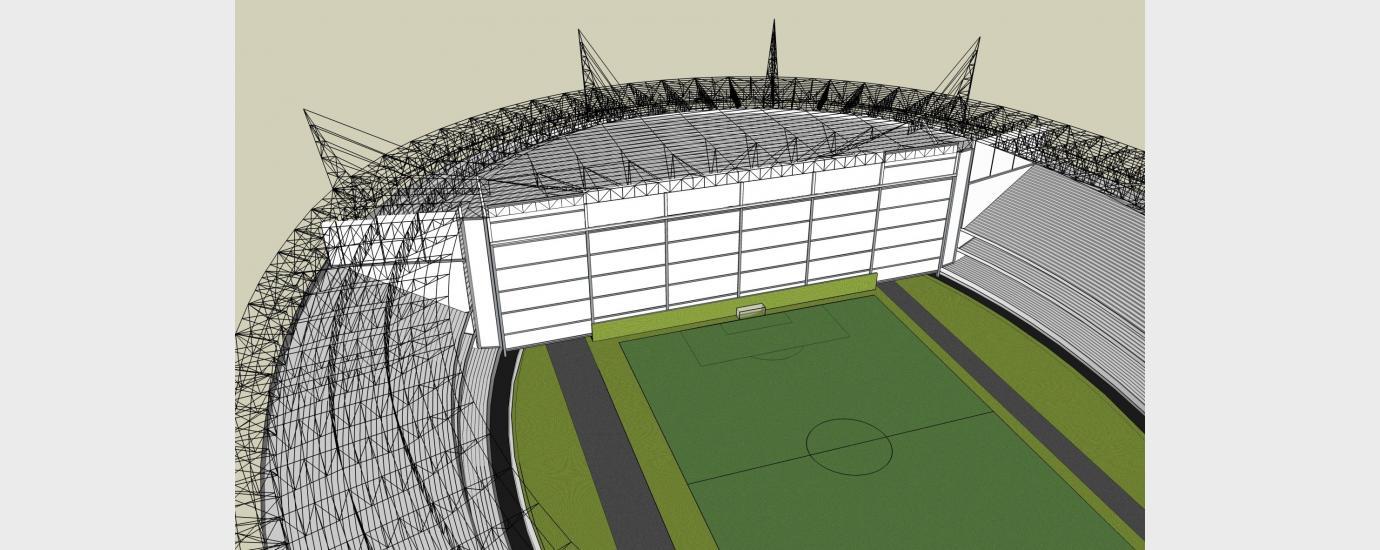 Sao Paulo Futebol End Zone Moveable Enclosure