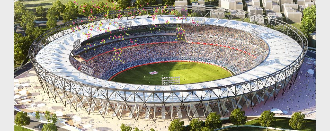 Image result for motera stadium field size