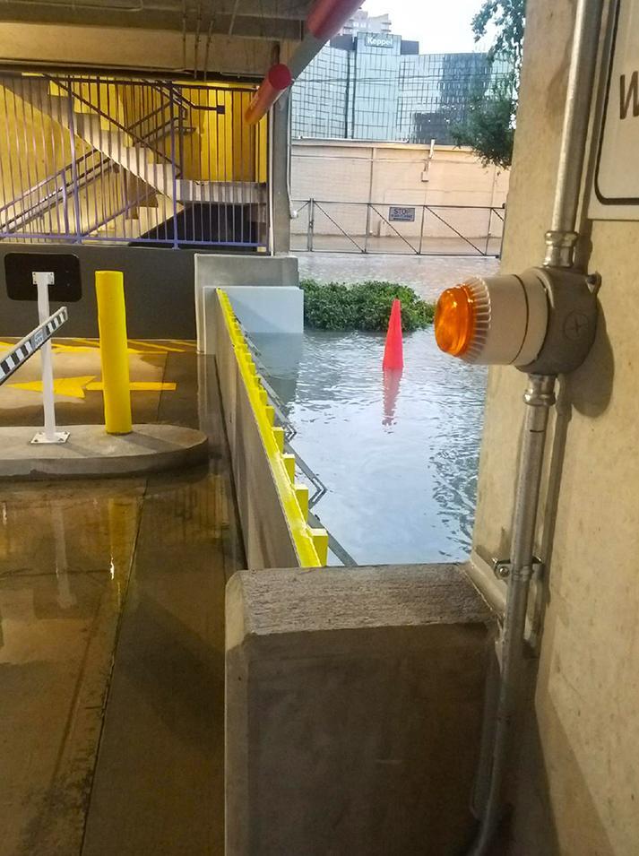 Garage Flood Door Deployed