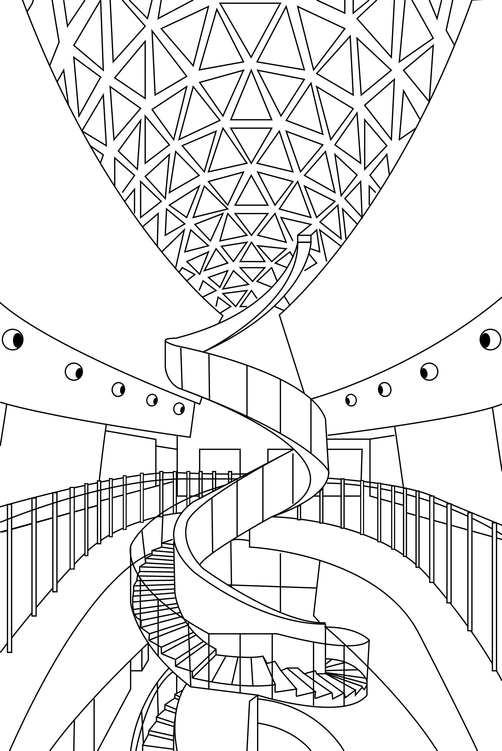 The Dali Museum Coloring Page