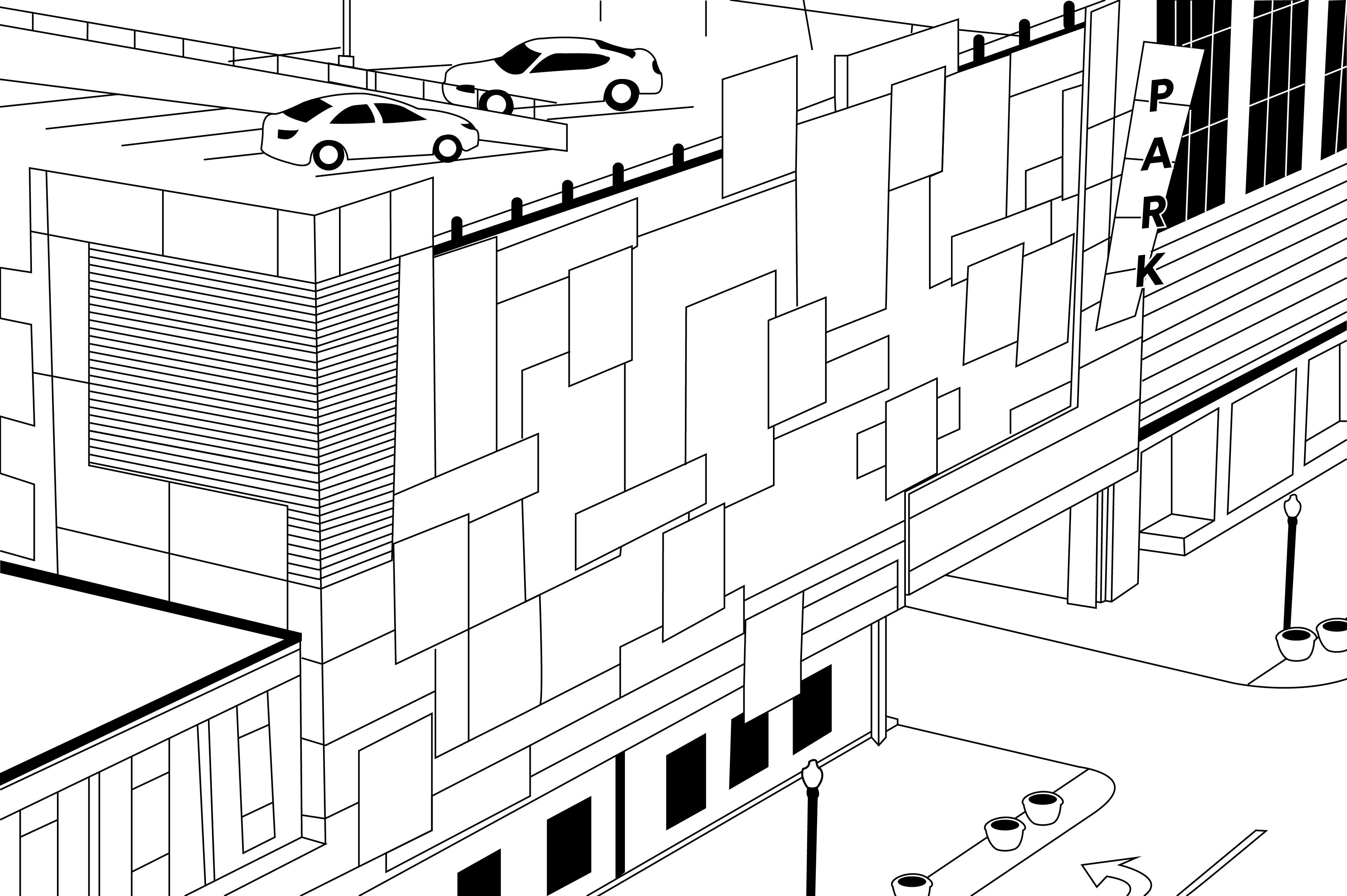 Helix on Main Parking Coloring Page