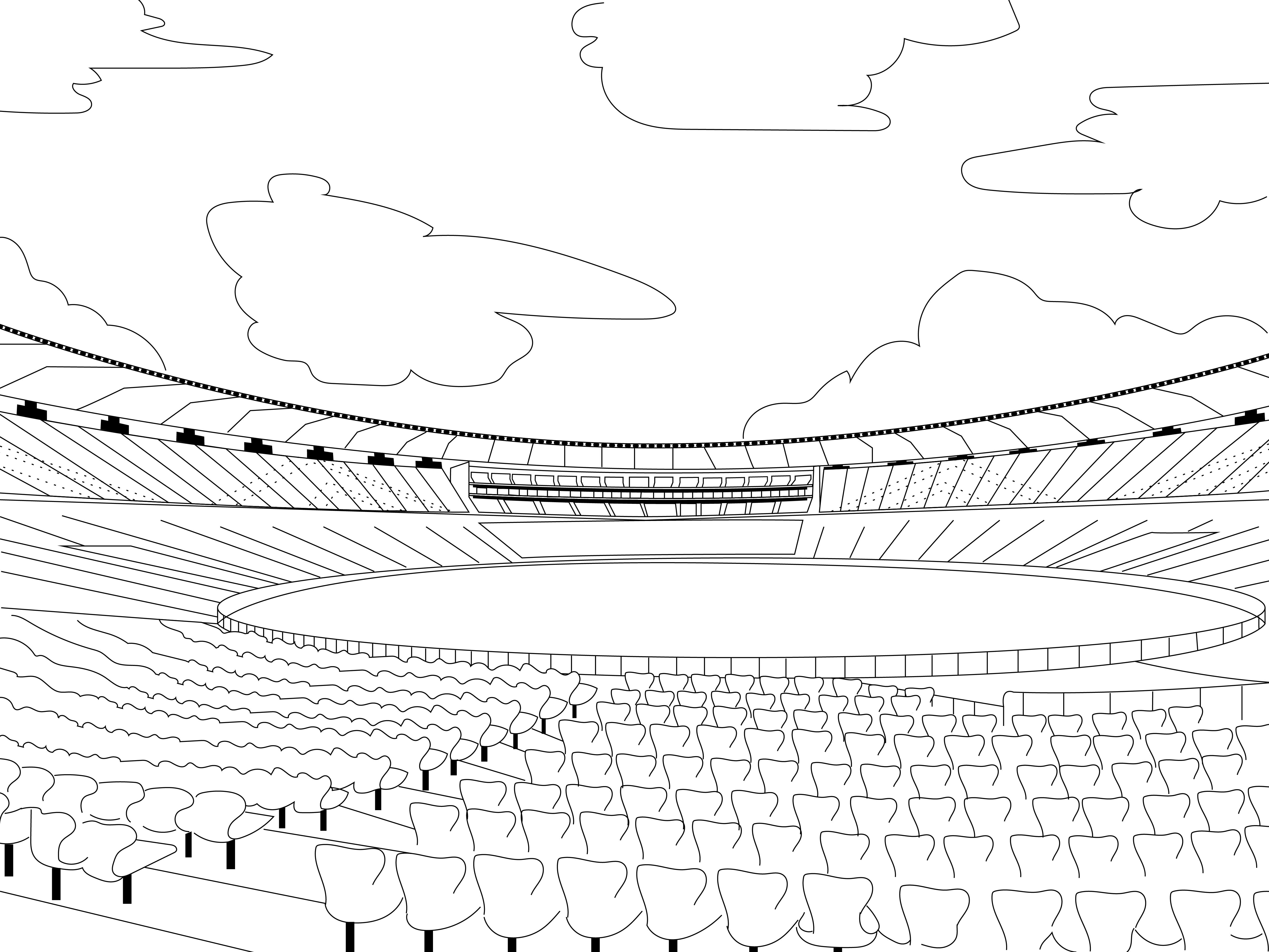 Motera Cricket Stadium Coloring Page