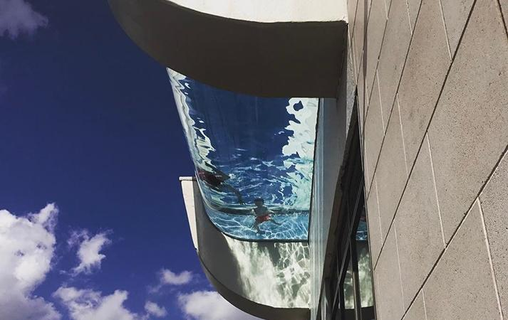 Market Square Tower Pool from below