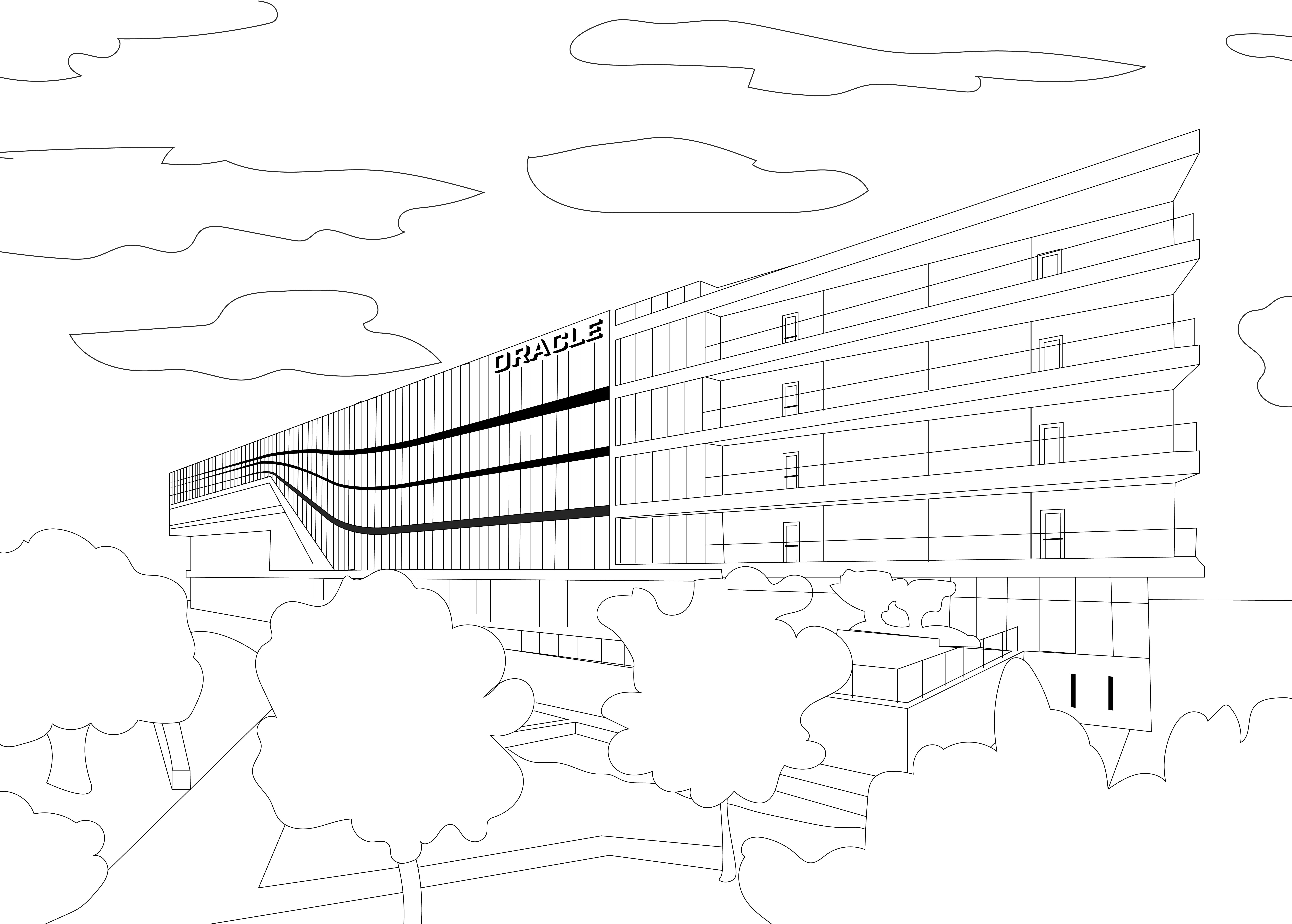 Oracle Waterfront Campus Coloring Page