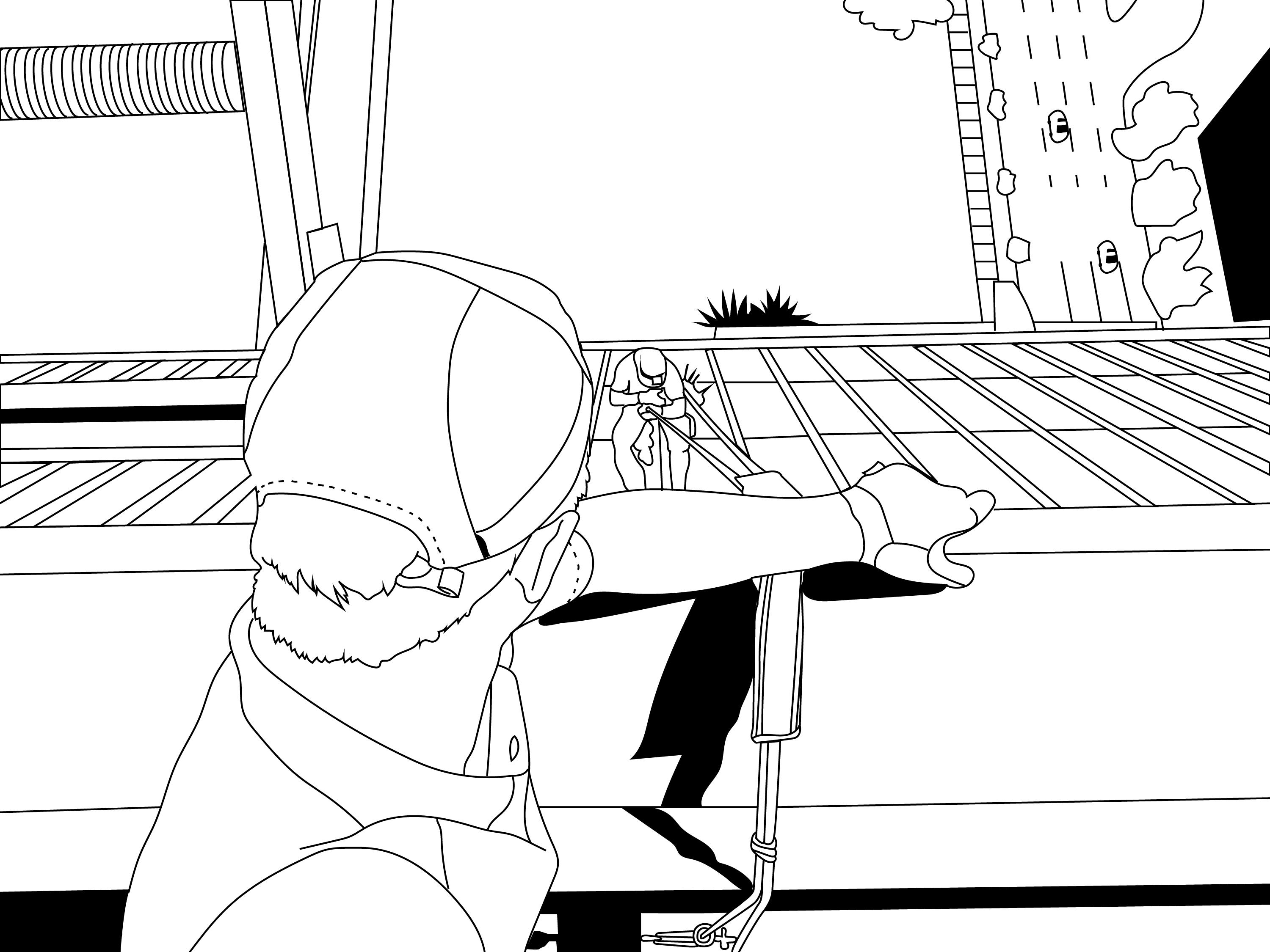 Rope Access Coloring Page